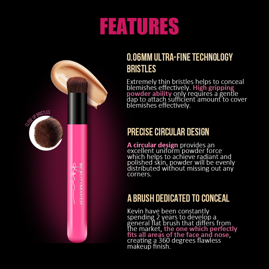 Full Coverage Bundle - Concealer Brush - Features 2