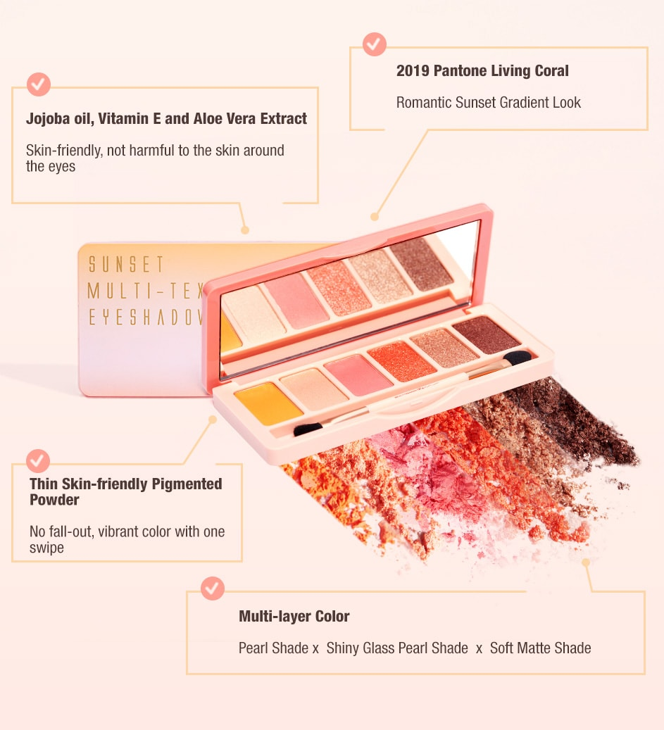 BeautyMaker Sunset Multi–Texture Eyeshadow Palette - ingredients